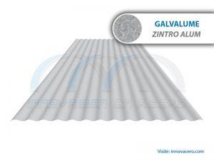Lámina Acanalada TO-100 Galvalume (Zintro Alum) Ternium