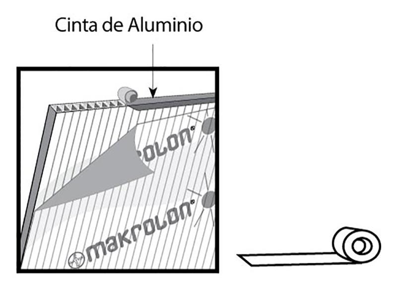 Cinta de aluminio para policarbonato celular precio en for Perfiles de aluminio para toldos de palilleria