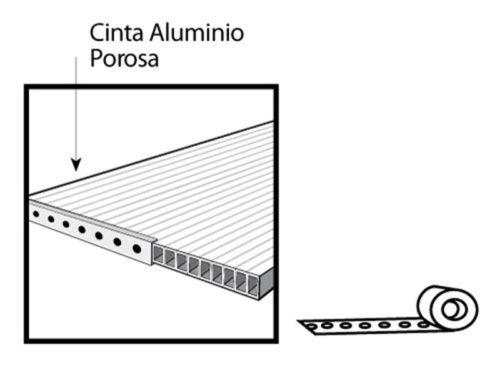 Cinta de Aluminio para Ventana de Policarbonato Celular