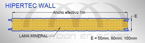 Geometría del Panel Aislado Hipertec Wall