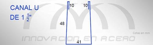 """Geometría del Canal U de 1½"""""""