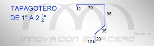 "Geometría del Tapagotero de 1"" a 2½"""