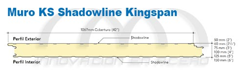Inventario de Panel Aislado para Muro KS Shadowline Kingspan