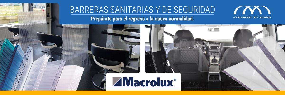 Barreras Sanitarias y de Seguridad, con láminas de Policarbonato Macrolux