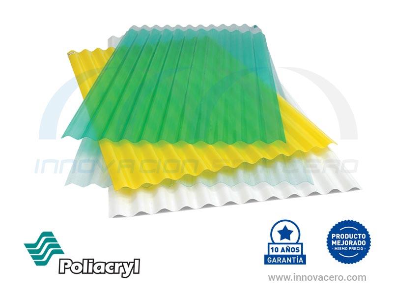 Láminas Translúcidas Poliéster Poliacryl con 10 años de garantía